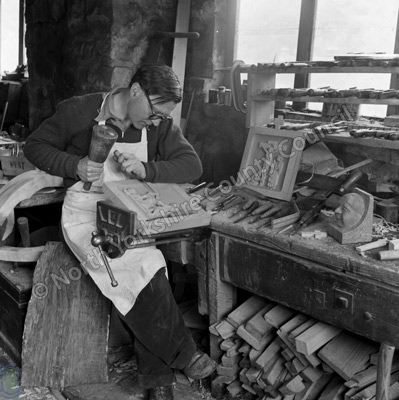 Mr T.E. Whittaker, Wood Carver, Littlebeck
